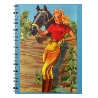 1940s pin-up gal and horse notebooks