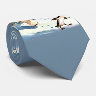 1940s polar bear and penguin tie