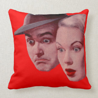 1940s Sherman and Marsha are SURPRISED Cushion