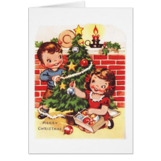 1940s Vintage Merry Christmas Card