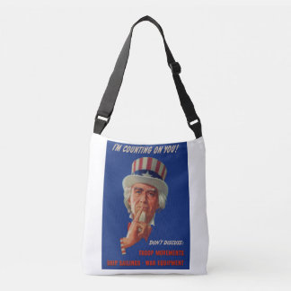 1940s warning from Uncle Sam Crossbody Bag