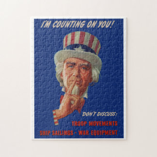 1940s warning from Uncle Sam Jigsaw Puzzle
