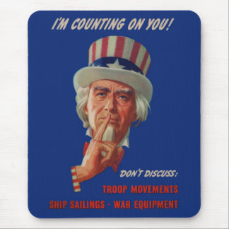 1940s warning from Uncle Sam Mouse Pad