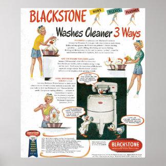 1940s Washing Machine Ad Poster