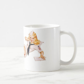 1940's WWII Pinup Girl Coffee Mug