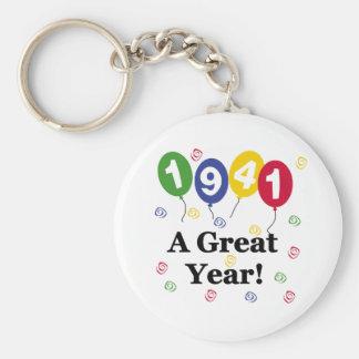 1941 A Great Year Birthday Keychains