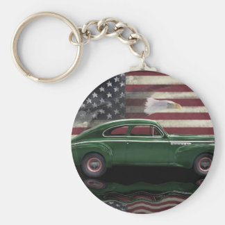 1941 Buick Century Patriot Basic Round Button Key Ring