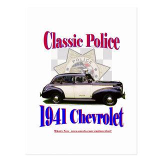 1941 Classic Police Chevrolet Postcard