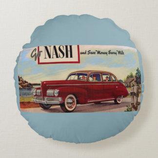 1941 Nash automobile ad Round Cushion