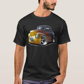 1941 Willys Black-Flames Car T-Shirt