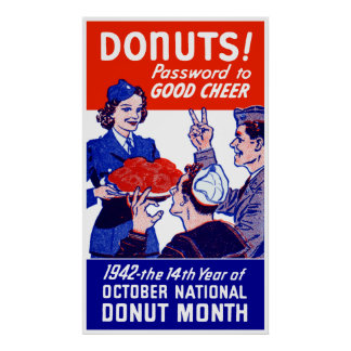 1942 Donut Month Poster