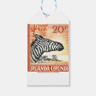 1942 Ruanda Urundi Zebra Postage Stamp