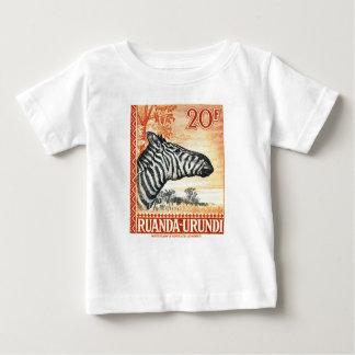 1942 Ruanda Urundi Zebra Postage Stamp Baby T-Shirt