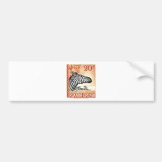1942 Ruanda Urundi Zebra Postage Stamp Bumper Sticker