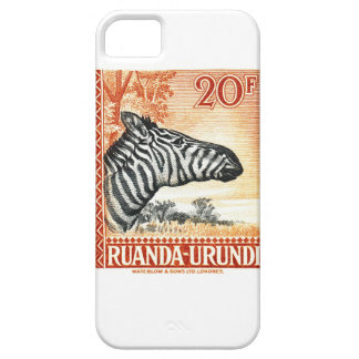 1942 Ruanda Urundi Zebra Postage Stamp Case For The iPhone 5