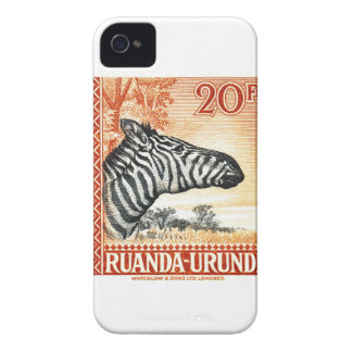 1942 Ruanda Urundi Zebra Postage Stamp iPhone 4 Covers