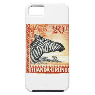 1942 Ruanda Urundi Zebra Postage Stamp iPhone 5 Cover