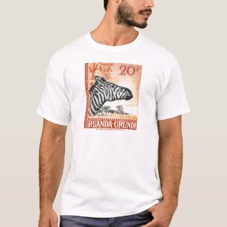 1942 Ruanda Urundi Zebra Postage Stamp T-Shirt