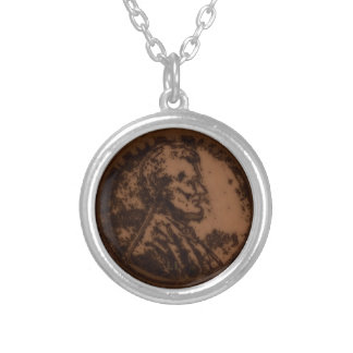 1943 PENNY SILVER PLATED NECKLACE