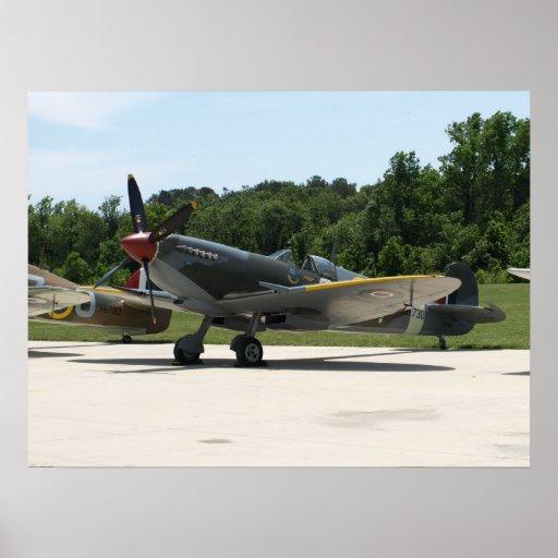 1943 Supermarine Spitfire Mk IXe. Posters
