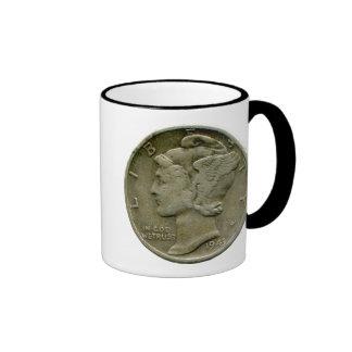 1943 US Mercury dime obverse mug