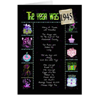 1945 Birthday Fun Facts Greeting Card
