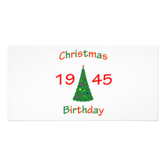 1945 Christmas Birthday Picture Card