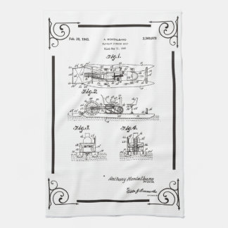 1945 Fly fishihg boat patent drawing Tea Towel
