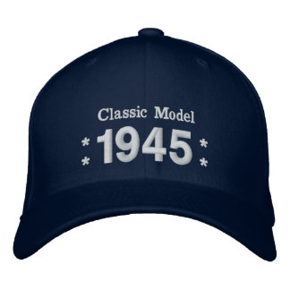 1945 or Any Year 70th Birthday A6P NAVY BLUE Embroidered Hat