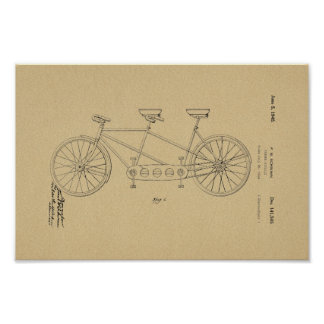 1945 Vintage Schwinn Bicycle Patent Art Print