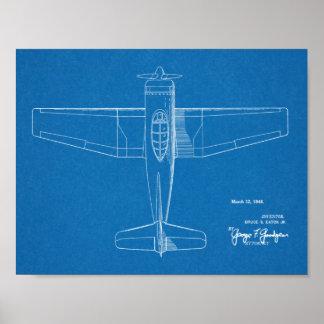 1946 Military Airplane Patent Art Drawing Print