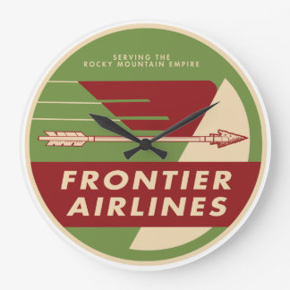 1946 Vintage Frontier Airlines Wall Clock