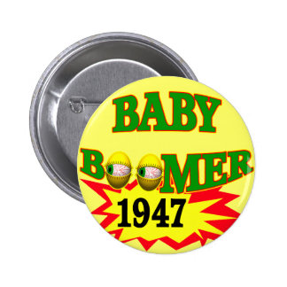 1947 Baby Boomer Buttons