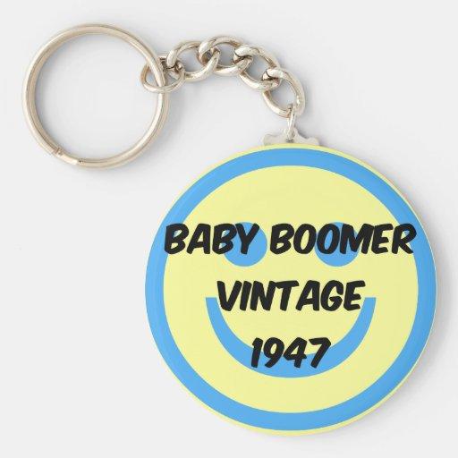 1947 baby boomer key chain