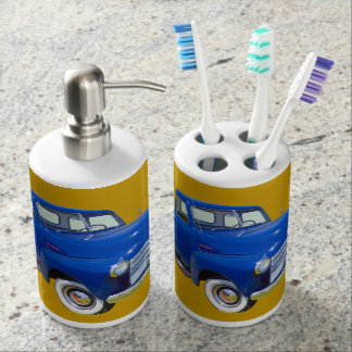 1947 Chevrolet Thriftmaster Antique Pickup Truck Soap Dispenser And Toothbrush Holder