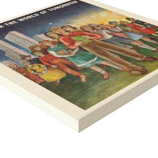 1947 Children's Book Week Canvas Poster