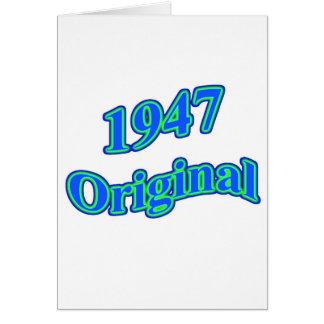1947 Original Blue Green Card
