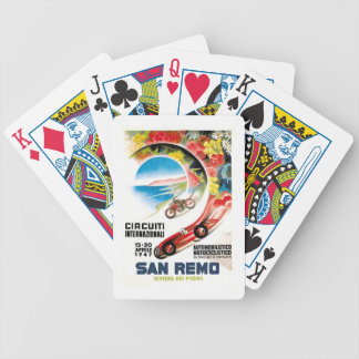 1947 San Remo Grand Prix Race Poster Bicycle Playing Cards