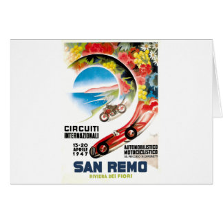 1947 San Remo Grand Prix Race Poster Card