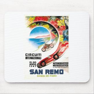 1947 San Remo Grand Prix Race Poster Mouse Pad