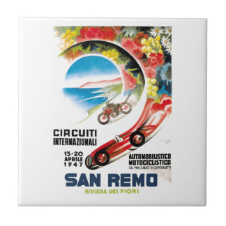 1947 San Remo Grand Prix Race Poster Tile