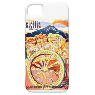 1947 Sicily Italy Travel Poster Eternal Spring iPhone 5 Case