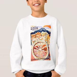 1947 Sicily Italy Travel Poster Eternal Spring Sweatshirt