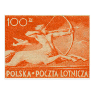 1948 100 zt Polish Airmail Stamp Postcard