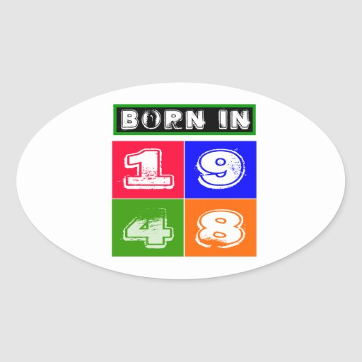 1948 Birthday Designs Stickers