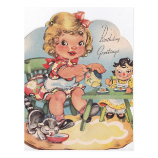 1948 Birthday Greetings Postcard