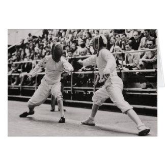 1948 British Olympic Fencing Card