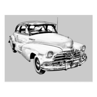 1948 Chevrolet Fleetmaster Car Illustration Postcard