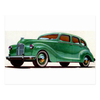 1948 green Austin Devon Postcard