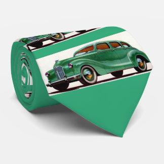 1948 green Austin Devon print Tie